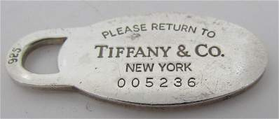 TIFFANY & CO NECKLACE PENDANT STERLING SILVER CHAR