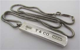 TIFFANY & CO NECKLACE PENDANT STERLING SILVER