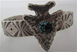SPIDERWEB TURQUOISE CUFF BRACELET STERLING SILVER
