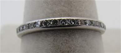 80PT DIAMOND ETERNITY BAND RING PLATINUM SIZE 65