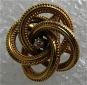 DIAMOND PIN 14K GOLD BROOCH & NECKLACE PENDANT