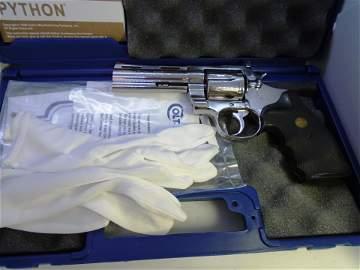 1982 COLT PYTHON 357 MAG BRIGHT STAINLESS HANDGUN