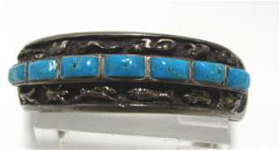 FETISH TURQUOISE STERLING SILVER CUFF BRACELET