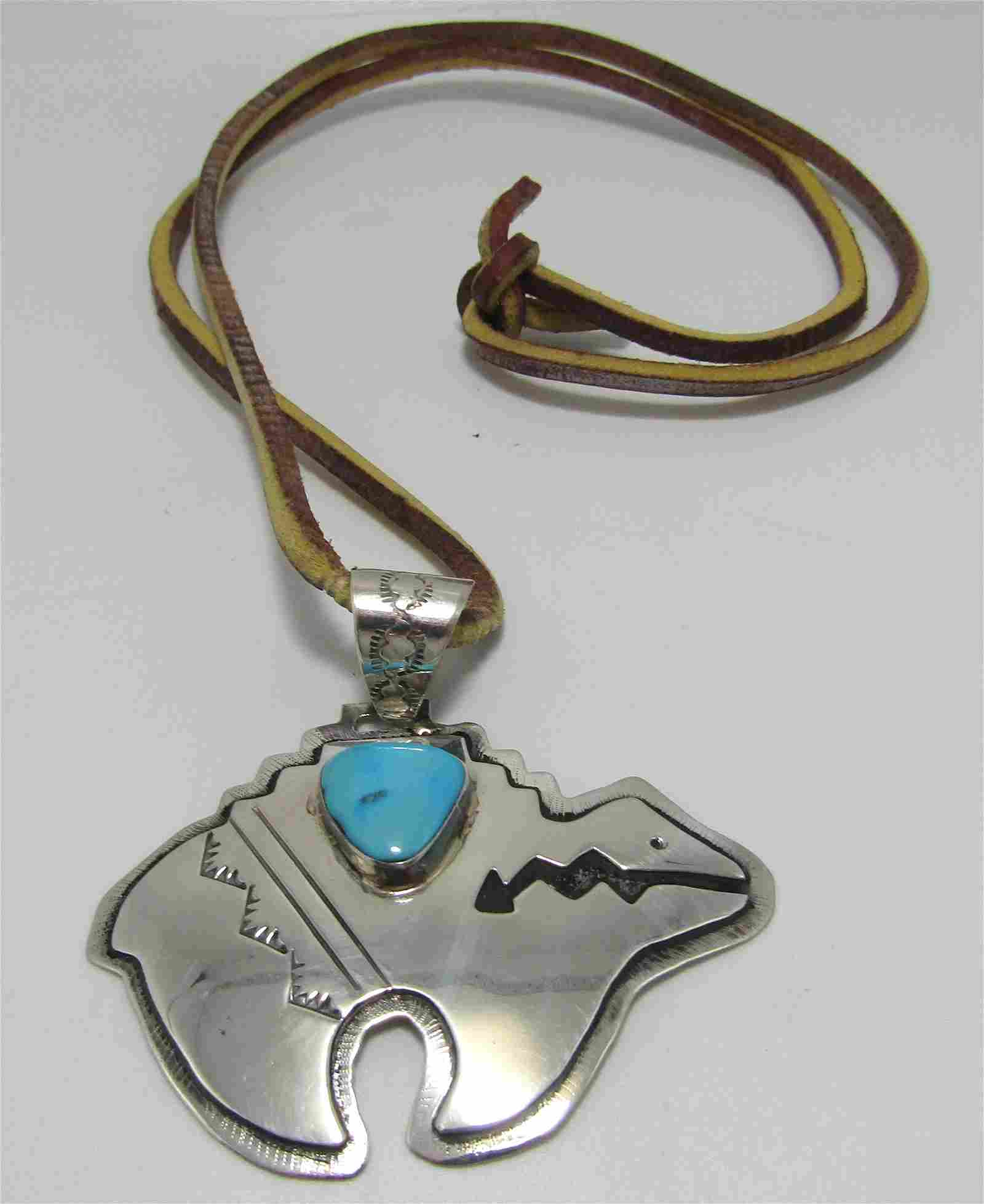 JOHNSON BEAR PENDANT NECKLACE STERLING SILVER