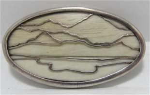 TOMLINSON STERLING SILVER MOUNTAIN PIN PENDANT