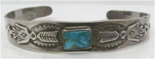 FRED HARVEY ERA BRACELET STERLING SILVER TURQUOISE
