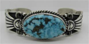 CADMAN MARK WATERWEB TURQUOISE STERLING BRACELET