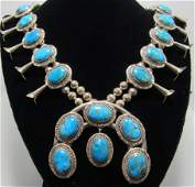 PHILBERT SECATERO STERLING SQUASH BLOSSOM NECKLACE