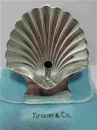 TIFFANY & CO SHELL DISH PEN HOLDER STERLING SILVER