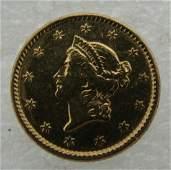 1851 US GOLD 1 DOLLAR COIN $1