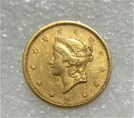 1852 US GOLD COIN 1 DOLLAR $1