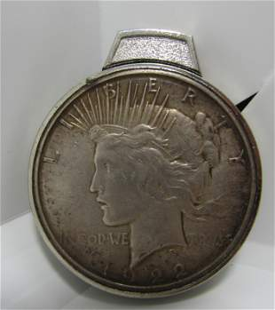 1922 US SILVER DOLLAR COIN LIGHTER
