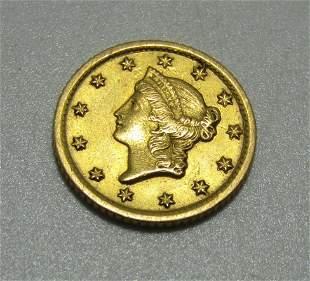 1853 O MINT US 1 DOLLAR GOLD COIN