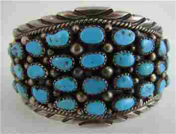 MORENCI TURQUOISE CUFF BRACELET STERLING SILVER