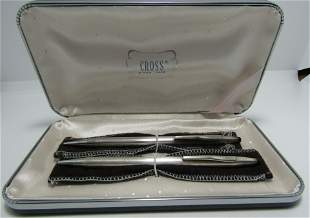 CROSS 2 PC PEN PENCIL SET STERLING SILVER NIB