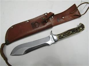 PUMA WHITE HUNTER KNIFE STAG