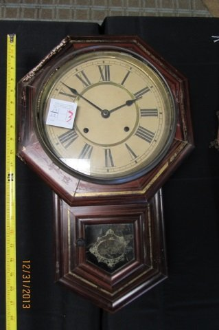 "Antique Regulator Clock 22"" x 14"""