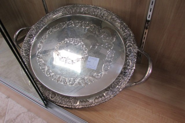 Kirk & Son Sterling Silver Serving Tray Repousse