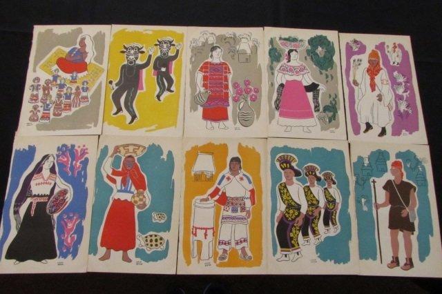 10 Carlos Merida Serigraphs Native American