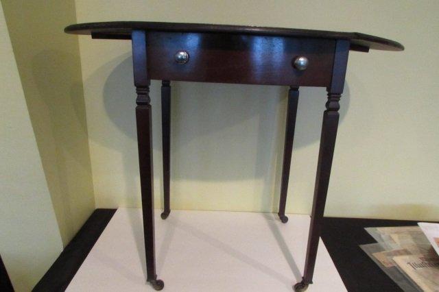 Antique Sheridan Drop Leaf Work Table