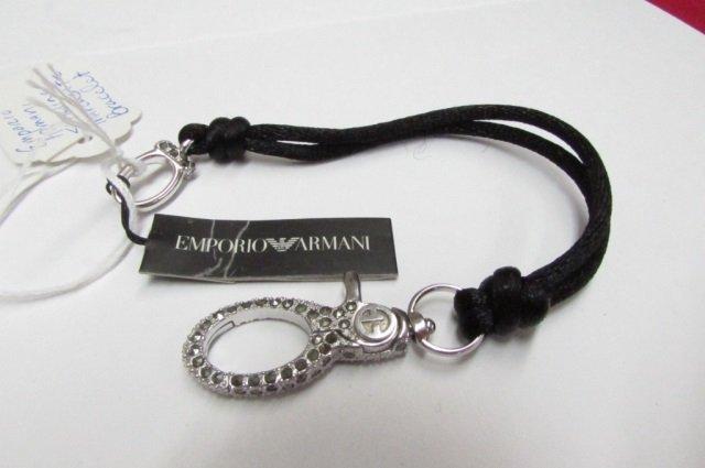 Emporio Armani Sterling Silver Marcasite Bracelet