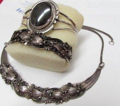 3pc Many Goats Sterling Necklace, 2 Bracelets