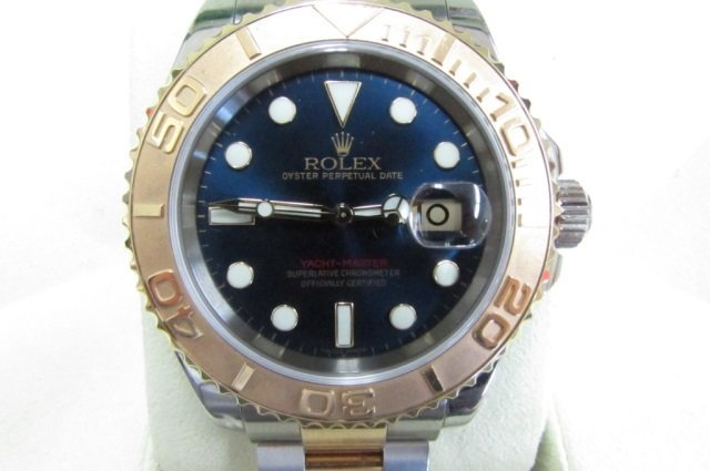 ROLEX 18K & SS YACHTMASTER WRISTWATCH BOX PAPERS