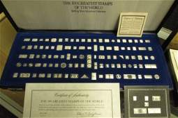100 GREATEST STAMPS IN STERLING SILVER