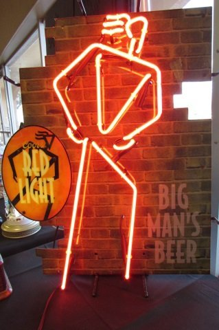Coors Beer Neon Sign Big Man Red