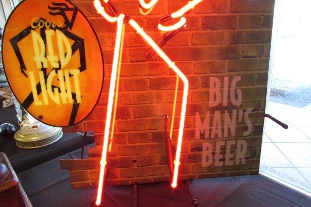 Coors Beer Neon Sign Big Man Red - 2