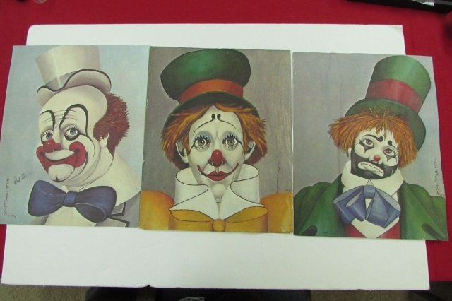 3 Red Skelton Clown Litho Prints Signed - 2
