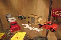 3 Early Matchbox Trucks & car