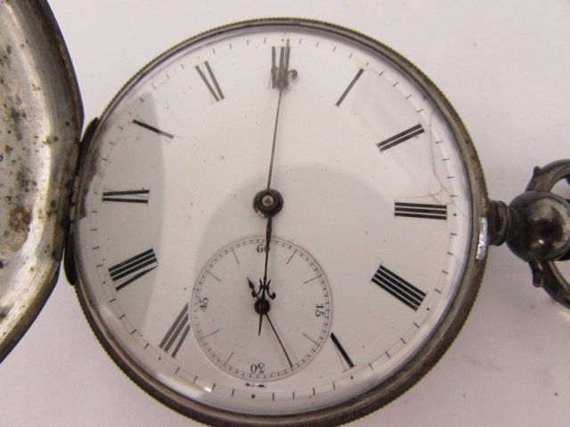 ULYSSE PERRET LOCLE PATENT LEVER POCKET WATCH 18S - 2