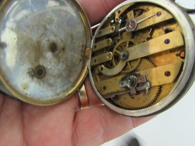 ULYSSE PERRET LOCLE PATENT LEVER POCKET WATCH 18S - 7