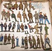 40 PC MANOIL BARCLAYS BRITAINS LEAD TOY SOLDIERS