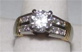 150CT DIAMOND PLATINUM RING SIZE 7
