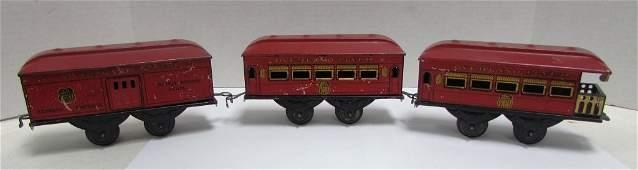 HAFNER TOY CLOCKWORK TIN TRAIN SET OVERLAND FLYER