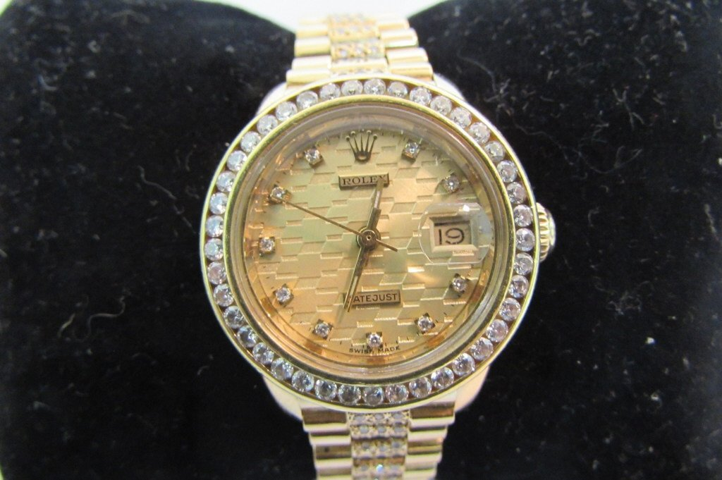 LADIES ROLEX PRESIDENT 18K GOLD