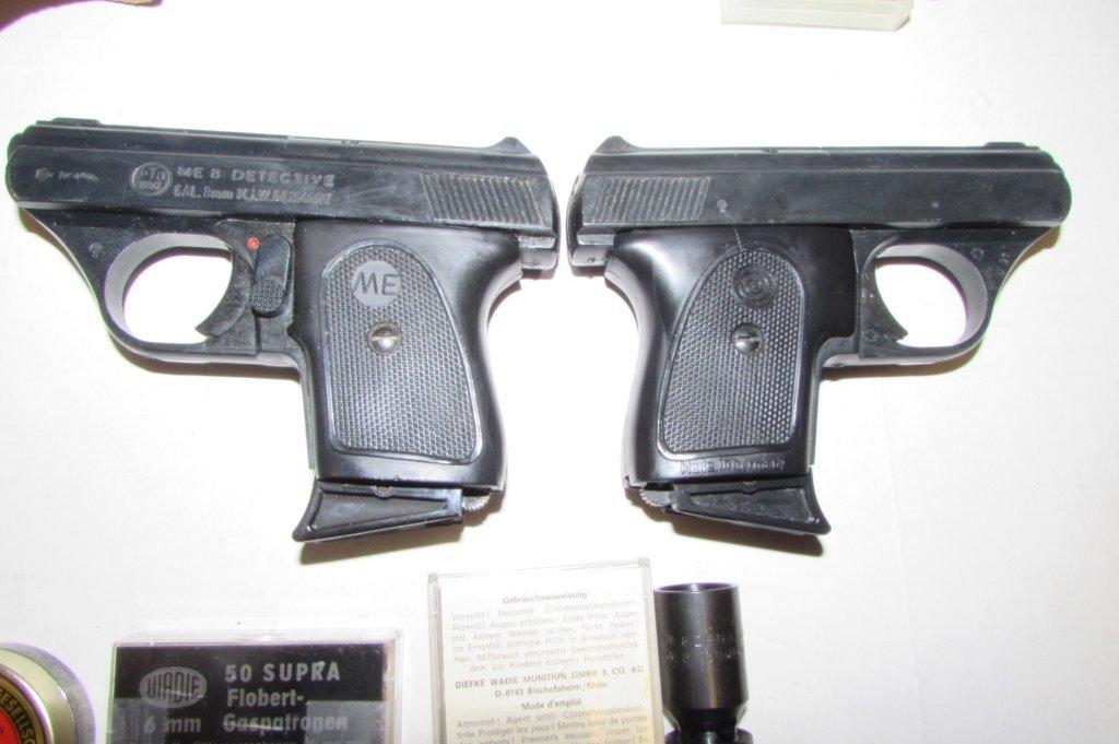 STARTER PISTOLS ME 8 DETECTIVE ROHM RG 3S & AMMO - 3