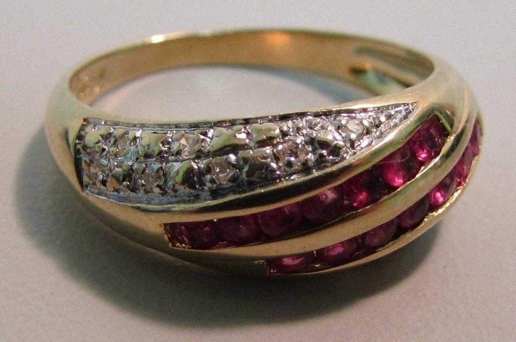 .50CT RUBY & DIAMOND RING 14K GOLD