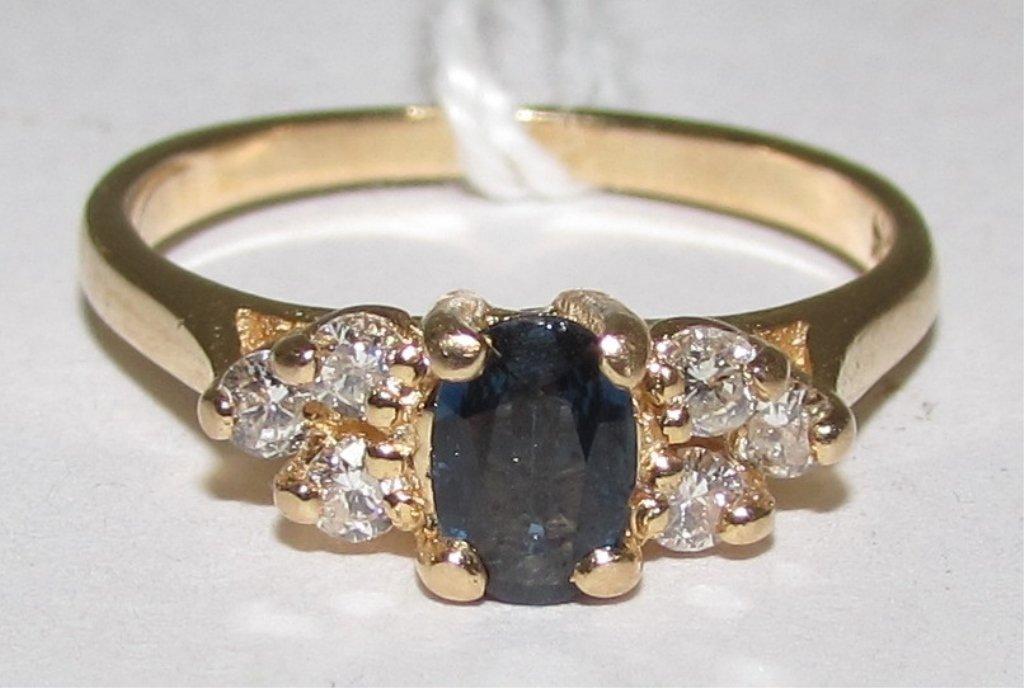 .60CT SAPPHIRE & DIAMOND RING 14K GOLD
