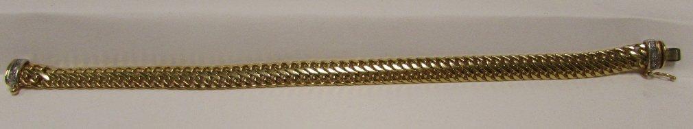 6 DIAMOND BRACELET 14K GOLD LINK CHAIN