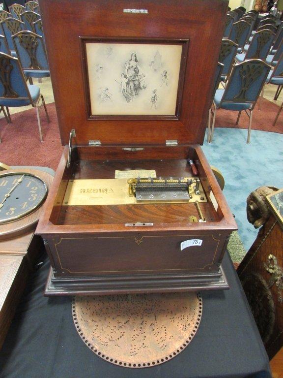 "15"" REGINA 2 COMB DISK PLAYER MUSIC BOX 1897"