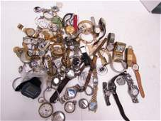 50 WRISTWATCH POCKET WATCH LOT MENS  LADIES