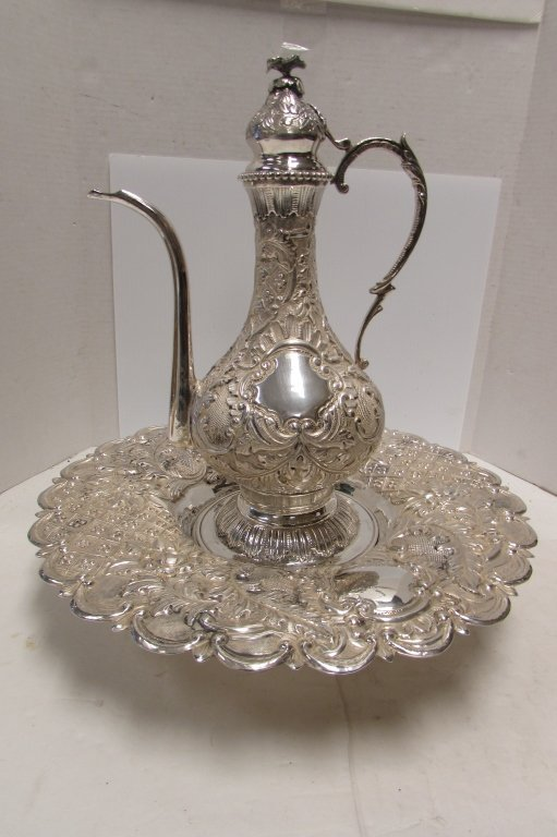 STERLING SILVER TURKISH DALLAH COFFEE POT 2275GRAM