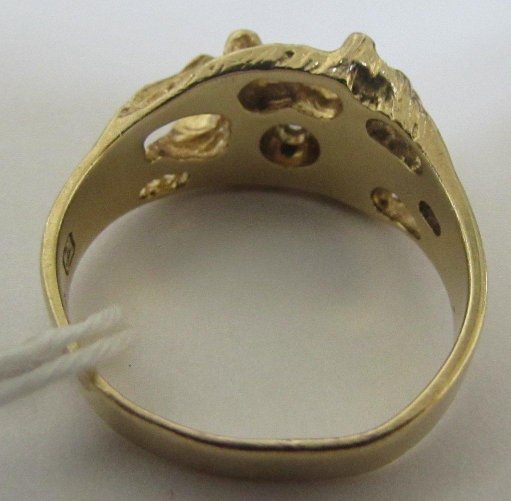 14K GOLD NUGGET DIAMOND RING - 2