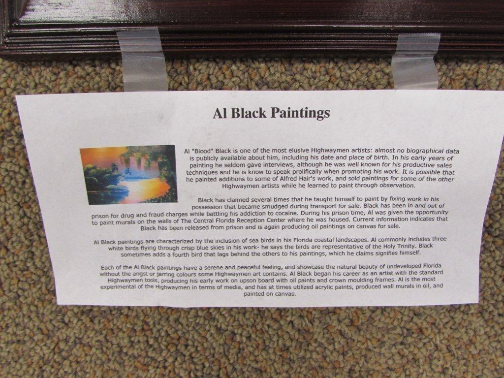 AL BLACK OIL PAINTING FLORIDA HIGHWAYMEN - 3