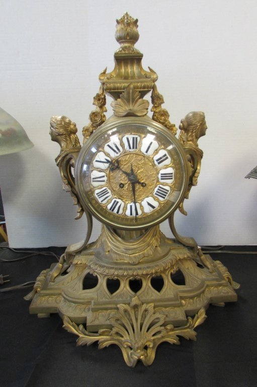 VICTORIAN FRENCH CLOCK PR 3296 TIME & STRIKE
