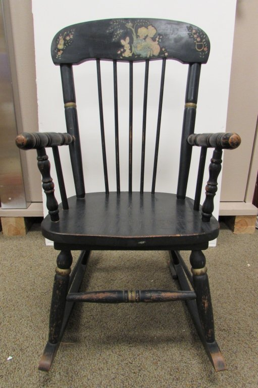 Old wood rocking chair - Ramsdell Musical Rocking Chair Antique Wood