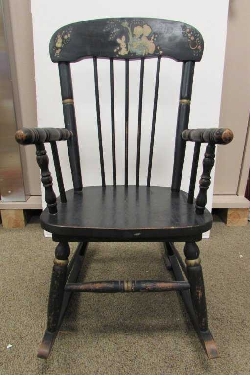 Ramsdell Musical Rocking Chair Antique Wood